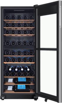 HAIER WS53GDA, Freistehend Weinkühler mit Kompressor Schwarz