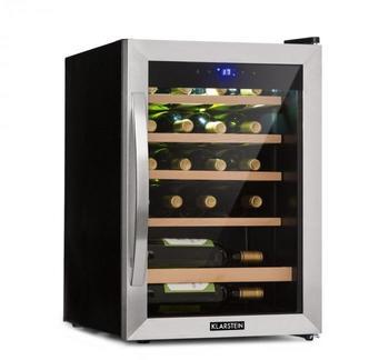 Klarstein Vinamour 19 Weinkühlschrank 19Fl./65l   4-18°C   39dB   Glas   schwarz