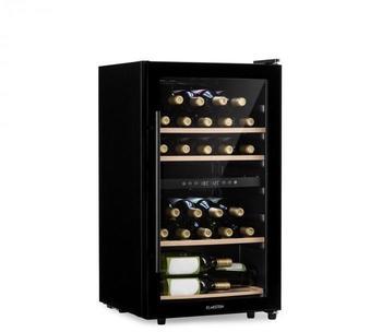 Klarstein Barossa 34D Weinkühlschrank 2 Zonen 34 Flaschen Glastür Touch LED schwarz