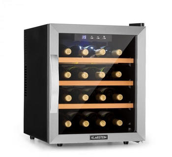 Klarstein Reserva 16 Weinkühlschrank 16Fl/48l Touch LED-Display schwarz