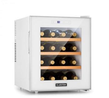 Klarstein Reserva 16 Blanco Weinkühlschrank 16Fl/48l Touch LED-Display weiß