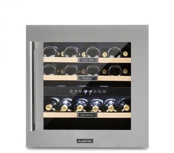 Klarstein Vinsider 36 Weinkühlschrank 2 Kühlzonen 5-22°C 94l Edelstahl