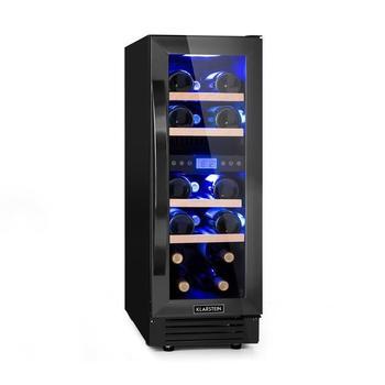 Klarstein Vinovilla Onyx17 Zweizonen-Weinkühlschrank
