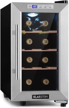 Klarstein Reserva 8 Uno Weinkühlschrank 23 Liter 8 Flaschen 11-18 °C 26 dB Edelstahl,