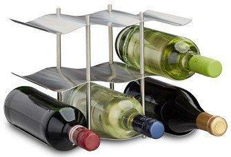 Relaxdays Weinregal 9 Flaschen edelstahl