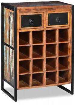 VidaXL Weinregal für 16 Flaschen aus Massivem Altholz (244831)