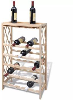 VidaXL Weinregal für 25 Flaschen Holz (241068)