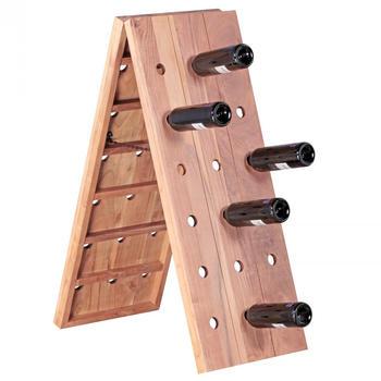 Fun Möbel Weinregal 100 cm für 36 Flaschen Massiv-Holz Akazie