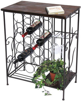 DanDiBo Weinregal HX12977 Flaschenständer 83 cm Metall und Holz Flaschenhalter Regal Bar 4260407930362