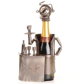 Cepewa Dekorativer Weinflaschenhalter Barkeeper mit Theke