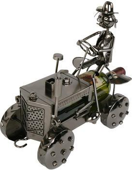 michel toys Weinflaschenhalter Traktor + Bauer