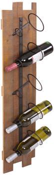 mendler-weinregal-hwc-b99-wandregal-flaschenhalter-holz-metall-fuer-5-flaschen-96x23x14cm