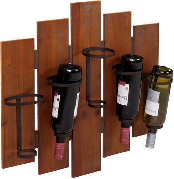 mendler-weinregal-hwc-b99-wandregal-flaschenhalter-holz-metall-fuer-5-flaschen-60x60x12cm