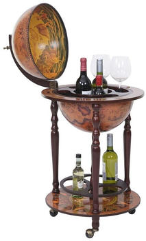 MCW Weinregal -T874, Globusbar, Deckel Drehbar, Zusätzliche Flaschenhalterung An Bodenplatte