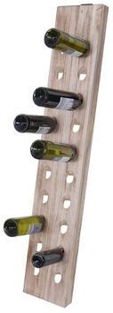 MCW Weinregal Weinregal-20, Rüttelbrett, Für 20 Flaschen Geeignet, Zur Wandmontage, Naturbraun
