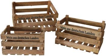 GD-World 3er Set Deko Kisten aus Holz