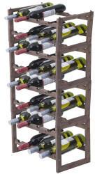Mendler Weinregal Hwc-B58, Flaschenregal Weinständer Weinhalter, Tanne 2 Böden 4 Stück