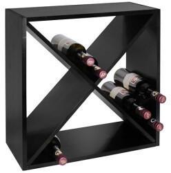 VINCASA Weinregal 52 cm, X-Cube schwarz lackiert