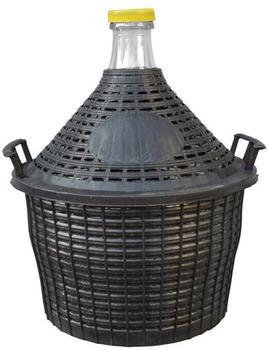 Dehner Glasballon 10 Kunststoff-Schutzkorb