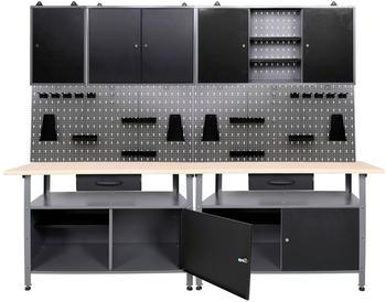 Ondis Werkbank-Set grau 240 x 60 cm