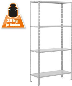 OBI Metall-Schraubregal Weiß 150 x 75 x 30 cm