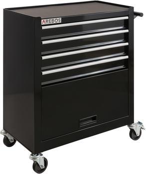 Arebos Werkstattwagen 4 Schubladen + 1 Kabinett