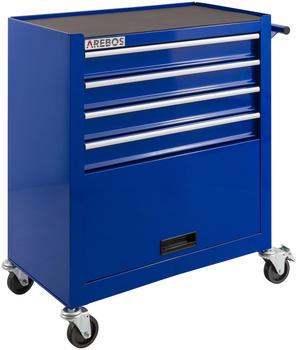 Arebos Werkstattwagen 4 Fächer + 1 Kabinett blau