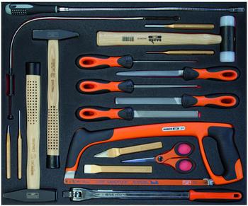 Bahco 19-teilig Zerspanungs- und Schlagwerkzeuge (FF1A12)