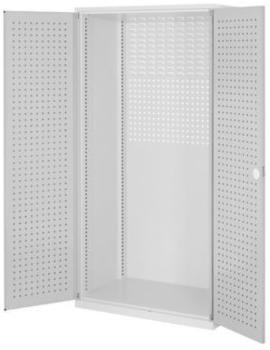 Certeo RasterPlan leerer Lochplattenschrank HxBxT 1950 x 1000 x 600 mm Grau