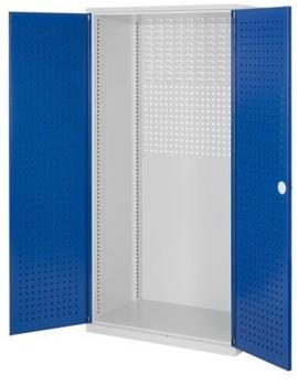 Certeo RasterPlan leerer Lochplattenschrank HxBxT 1950 x 1000 x 600 mm Blau