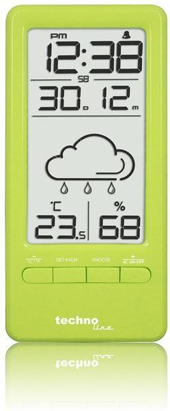 Technoline WS 6715 - Wetterstation Weinrot mit Vorhersage von Wettersituationen