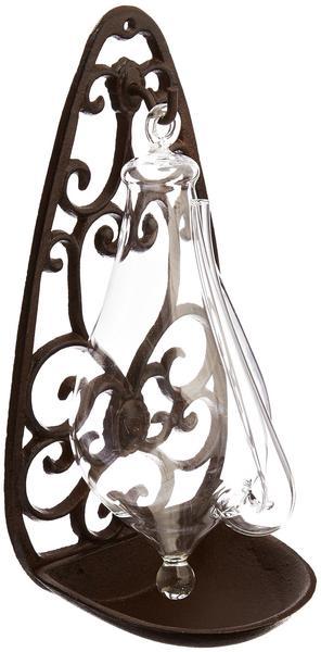 Esschert Design Glasbarometer mit Gusseisenhalterung