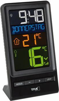 TFA Dostmann SPIRA Digitales Funkthermometer mit Funksender, Schwarz, 9 x 6 x 15 cm