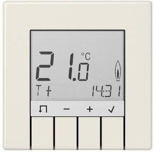 Jung TRDLS231WW Raumtemperaturregler Standard mit Display alpinweiß