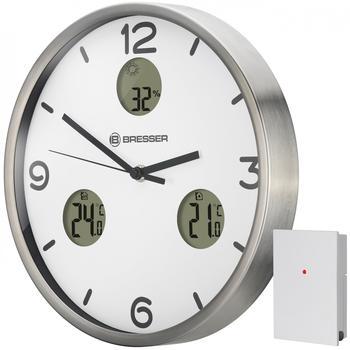 bresser-wanduhr-mytime-io-nx-mit-thermometer-und-hygrometer-weiss