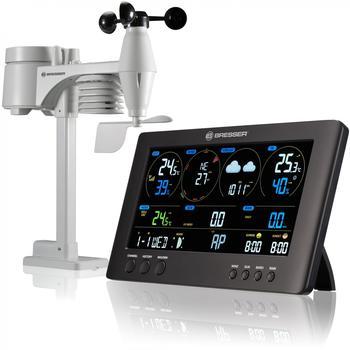 Bresser Besser Wetterstation Funk mit Aussensensor ClearView Wettercenter mit WLAN und 7-in-1 Profi-Sensor für Wind, Luftfeuchtigkeit, Temperatur, Niederschlag, UV-Level und Lichtintensität