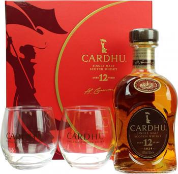 Cardhu 12 Jahre in Geschenkpackung mit zwei Gläsern 2019 40.0% 0,7l