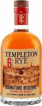 Templeton Rye 6 Jahre Signature Reserve Straigth Rye Whiskey 45,8% 0,7l