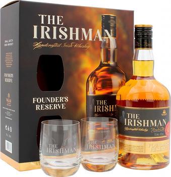 The Irishman Founder's Reserve Small Batch Irish Whisky 40% 0,7l - Geschenkset mit 2 Gläsern