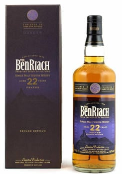 Benriach 22 Jahre Dunder Peated Dark Rum Finish Second Edition 46% 0,7l