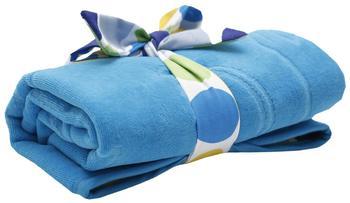 Mon Petit Bleu 5901323926792 Wickelunterlage - Soft & Handy Mon Petit Bleu, wasserdicht, beidseitig einsetzbar aus Baumwolle und Velour, 60 x 48 cm - Blau/Steine