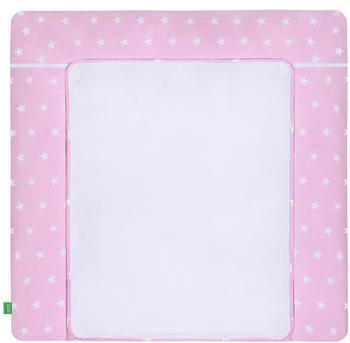 LULANDO Bezug White Stars/pink 75 x 85 cm