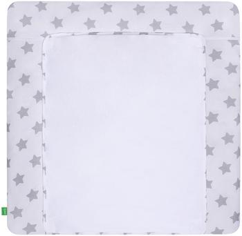 LULANDO Bezug gray/Stars on white 75 x 80 cm