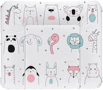 Rotho-Babydesign Wickelauflage (72x85cm) Happy Faces weiß