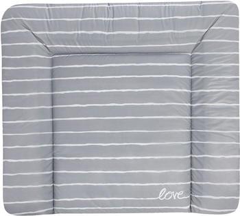 Julius Zöllner Wickelauflage Softy Folie 75x85cm - Grey Stripes