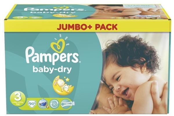 Pampers Baby-Dry 4-9 kg 90 Stück