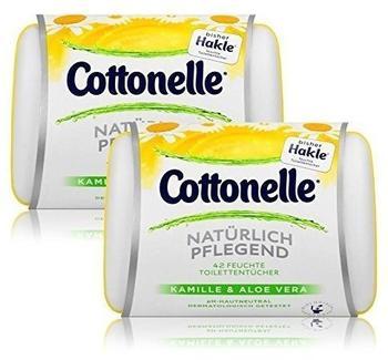Cottonelle Feuchte Toilettentücher Natürlich Pflegend Kamille & Aloe Vera 2 x 42 Stück