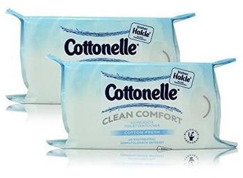 Cottonelle Feuchte Toilettentücher Clean Comfort Cotton Fresh 2 x 42 Stück