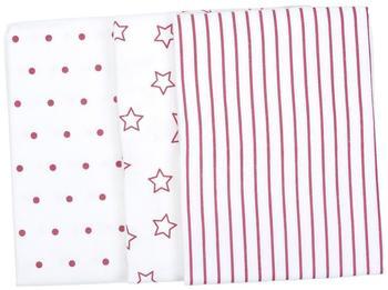 Odenwälder 3er Set Mullwindeln Classic Pink (80 x 80cm)
