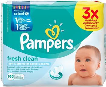 Pampers Fresh Clean Feuchttücher (3 x 64 Stk.)
